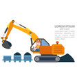 infographics loader excavator machine coal vector image