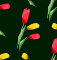 Seamless pattern with blooming red and yellow vector image