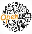 alphabet set 08 vector image