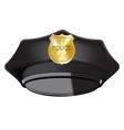 Black Police Cap vector image