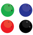 Bowling balls color vector image