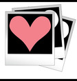 Heart shape made from photo frames insert your vector image