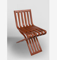 a simple minimalist wood chair vector image vector image