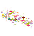 abstract colorful and creative geometric with a vector image vector image