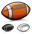 american football ball cartoon vector image vector image