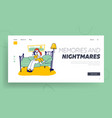 badarkness phobia fear website landing page vector image vector image