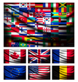 Big flag made out of world flags vector image vector image