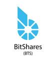 bitshares cryptocurrency symbol vector image vector image