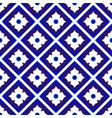 blue and white ceramic pattern vector image