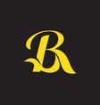 br monogram symbol vector image