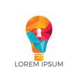 bulb and lock logo design vector image