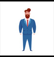 business man in suit standing smiling vector image vector image