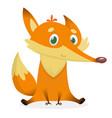 cartoon fox icon vector image vector image