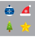 Christmas holiday icons set vector image