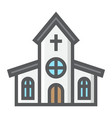 church filled outline icon easter and holiday vector image vector image