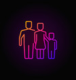 colorful outline family icon vector image vector image