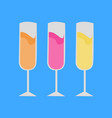 colorful party champagnes vector image vector image