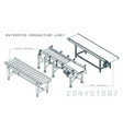 conveyors isometric view vector image vector image