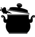 Cooking Pan silhouette vector image vector image