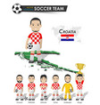 croatia national soccer cup team football player vector image vector image