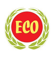 eco food label with ears vector image