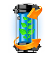 ecology tube vector image vector image