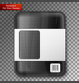 empty black food tray vector image vector image