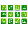 financial symbols vector image vector image