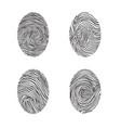 fingerprint set abstract lswirl line decor vector image vector image