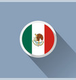 flag of mexico mexican round flat button vector image vector image