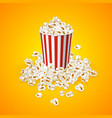 full popcorn striped bucket vector image