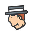 gentleman in retro hat sign vector image