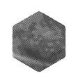 grunge hexagon shape dirty texture vector image vector image