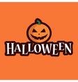 halloween logo pumpkin vector image