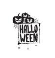 happy halloween text banner or label vector image vector image