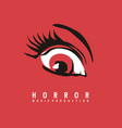 horror movie production business logo design vector image vector image