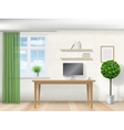 interior room with work table vector image