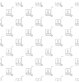 Jack-lift pattern seamless vector image vector image