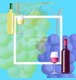 let s taste vine postcard vector image