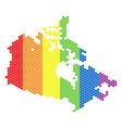 lgbt spectrum pixel canada map vector image