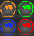 Liver icon Fashionable modern style In the orange vector image vector image