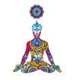 lotus position chakra sahasrara vector image