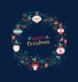 merry christmas santa claus cartoon greeting card vector image vector image