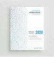 minimal annual report brochure design with blue vector image vector image