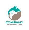 modern pets and veterinary logo vector image