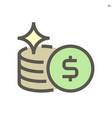 money coin icon design for financial graphic vector image vector image