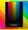 multicolor lines poster template vector image vector image