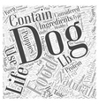natural life dog food Word Cloud Concept vector image vector image