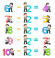 number decrease from 4 until 8 vector image vector image