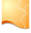 orange high-tech background template vector image vector image